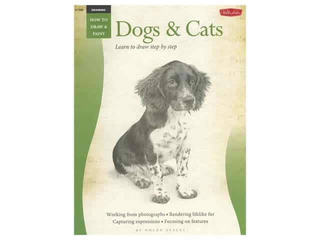 Walter Foster How to Draw & Paint Drawing Dogs & Cats Book