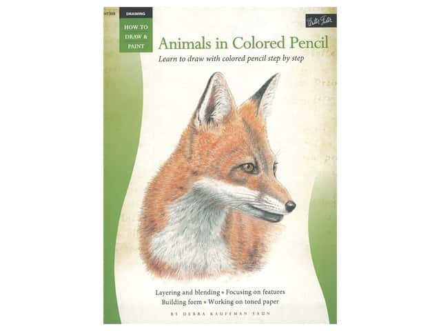 Walter Foster How to Draw & Paint Drawing Animals in Colored Pencil Book