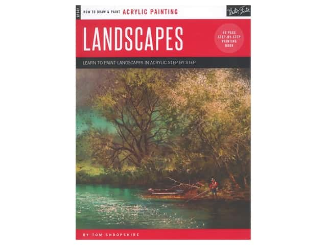 Walter Foster How to Draw & Paint Acrylic Landscapes Book