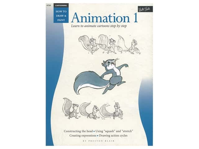 Walter Foster How to Draw & Paint Cartooning Animation 1 Book
