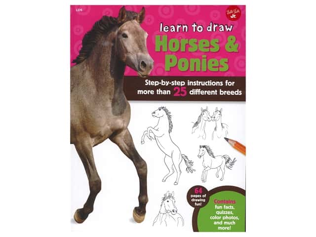 Walter Foster Jr Learn To Draw Horses & Ponies Book