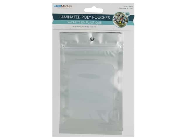 Multicraft Zip Bag With Window 4.1 in. x 6.4 in. Silver