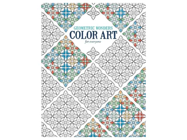 Leisure Arts Geometric Wonders Color Art For Everyone Coloring Book