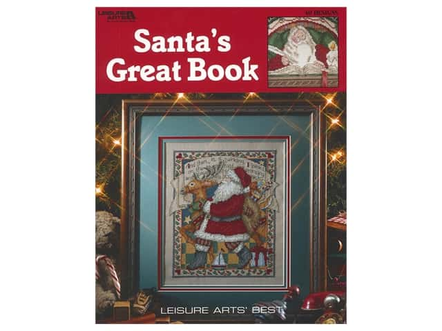 Leisure Arts Cross Stitch Santa's Great Book