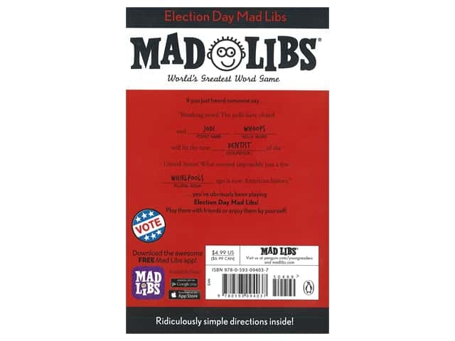 Price Stern Sloan Election Day Mad Libs Book