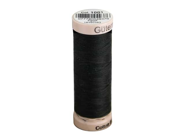 Gutermann Natural Cotton Sewing Thread 60 wt. 273 yd. #1001 Black