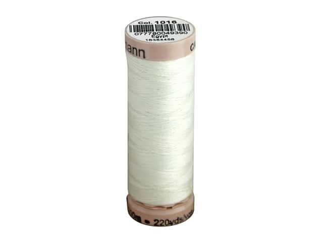 Gutermann Natural Cotton Sewing Thread 60 wt. 273 yd. #1016 White