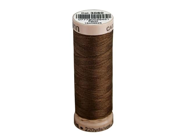Gutermann Natural Cotton Sewing Thread 60 wt. 273 yd. #3060 Brown
