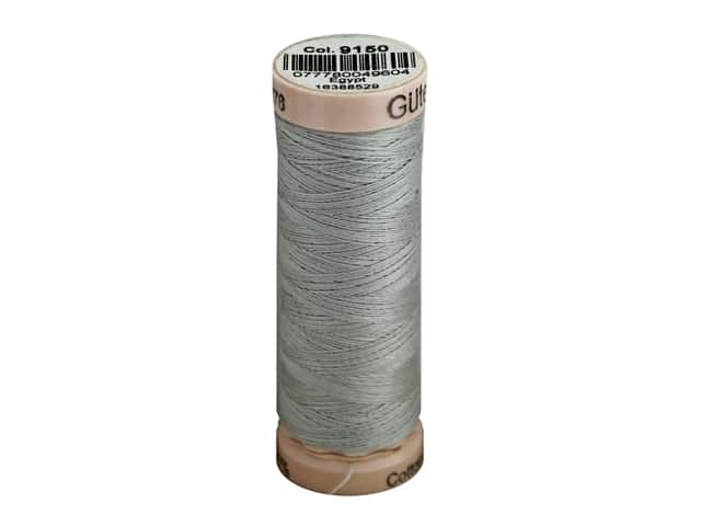 Gutermann Natural Cotton Sewing Thread 60 wt. 273 yd. #9150 Cool Gray