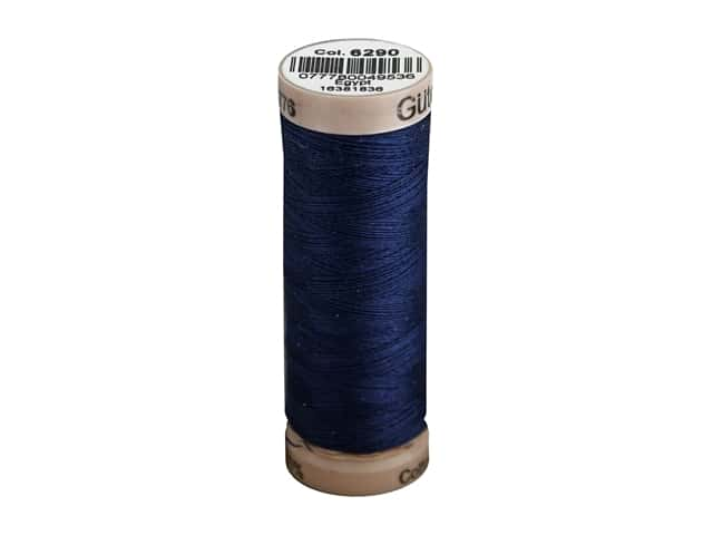 Gutermann Natural Cotton Sewing Thread 60 wt. 273 yd. #6290 Midnight Blue