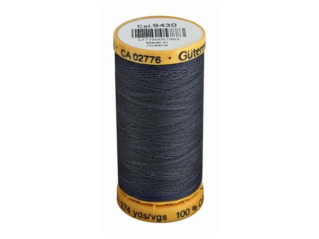 Gutermann 100% Natural Cotton Sewing Thread 273 yd. #9430 Gray