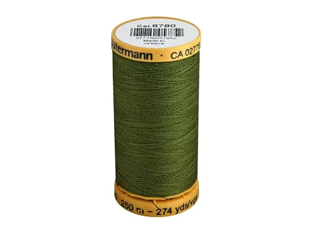 Gutermann 100% Natural Cotton Sewing Thread 273 yd. #8780 Bronze