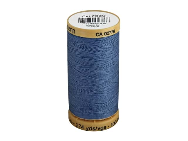 Gutermann 100% Natural Cotton Sewing Thread 273 yd. #7330 Dark Blue Sky