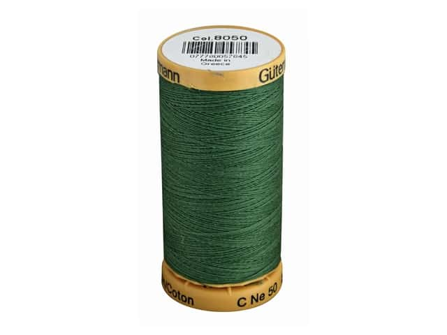 Gutermann 100% Natural Cotton Sewing Thread 273 yd. #8050 Sage Green