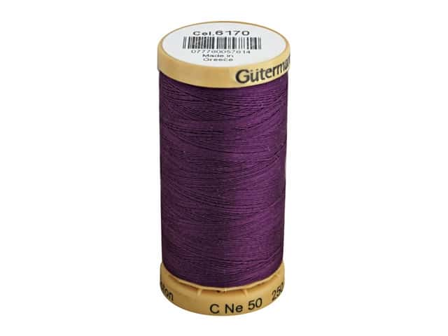 Gutermann 100% Natural Cotton Sewing Thread 273 yd. #6170 Grape