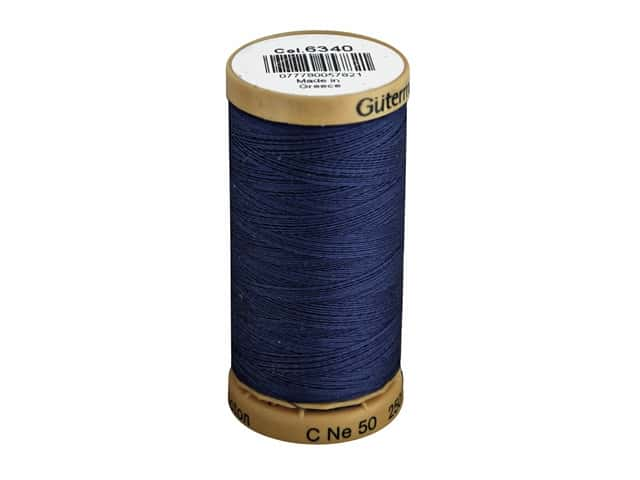 Gutermann 100% Natural Cotton Sewing Thread 273 yd. #6340 Bright Navy
