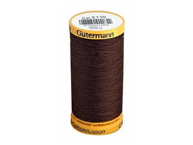 Gutermann 100% Natural Cotton Sewing Thread 273 yd. #3110 Walnut