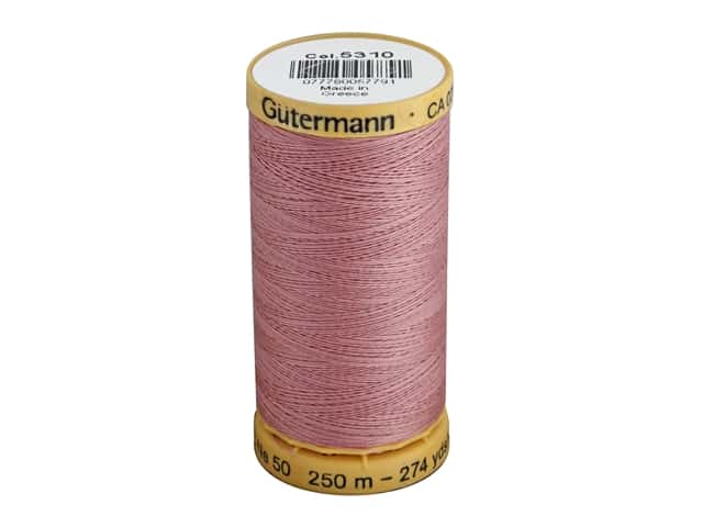 Gutermann 100% Natural Cotton Sewing Thread 273 yd. #5310 Rose Red