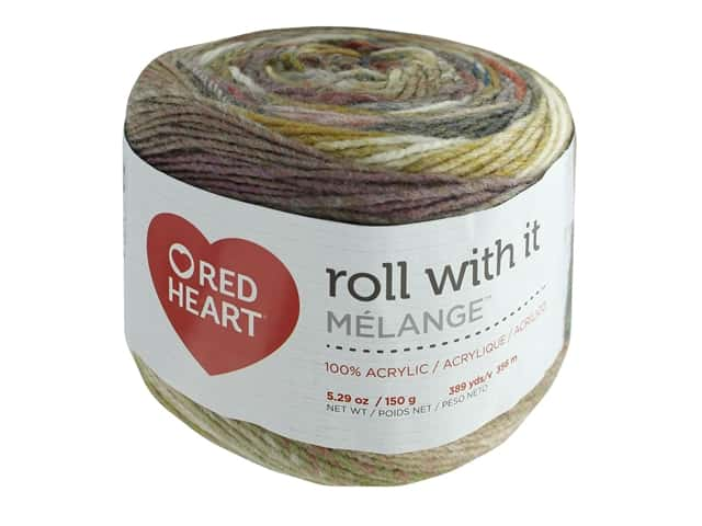 Coats & Clark Red Heart Roll With It Yarn Melange 5.3 oz Theater