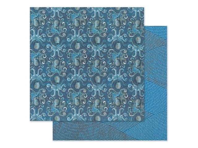 Graphic 45 Collection Ocean Blue Paper 12 in. x 12 in. Kauai