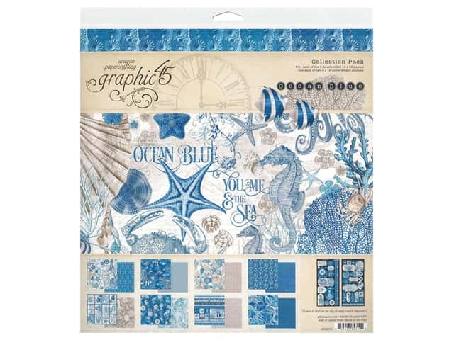 Graphic 45 Collection Ocean Blue Collection Pack 12 in. x 12 in.