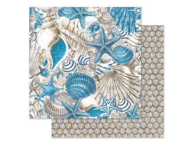 Graphic 45 Collection Ocean Blue Paper 12 in. x 12 in. Belize
