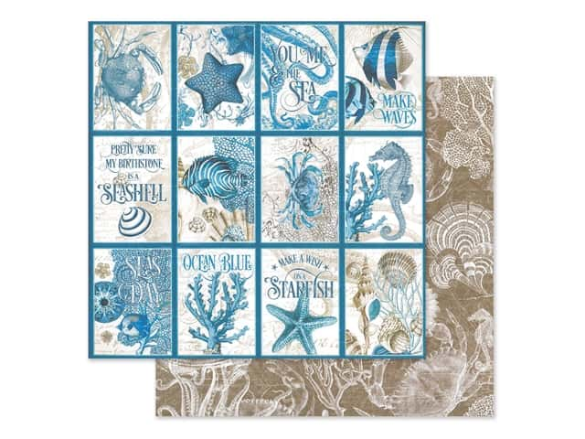 Graphic 45 Collection Ocean Blue Paper 12 in. x 12 in. Cozumel