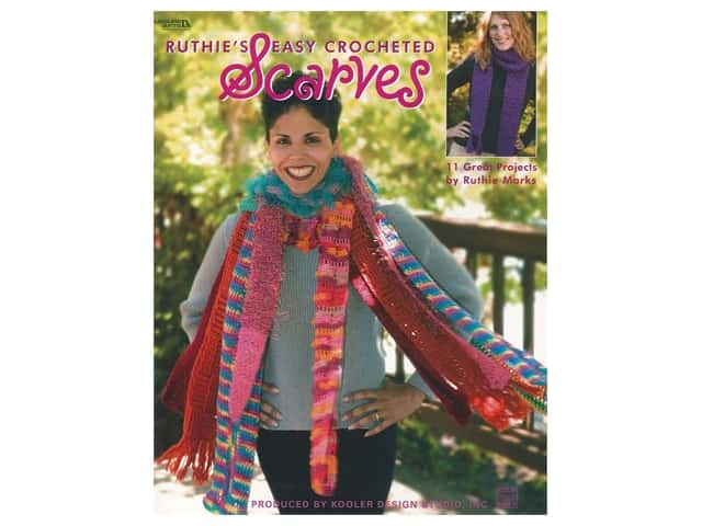 Leisure Arts Ruthie's Easy Crocheted Scarves Book