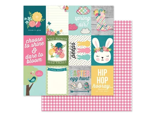Simple Stories Collection Hip Hop Hooray Paper 12 in. x 12 in. Elements 3 in. x 4 in.