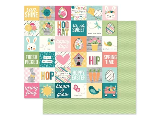 Simple Stories Collection Hip Hop Hooray Paper 12 in. x 12 in. Elements 2 in. x 2 in.