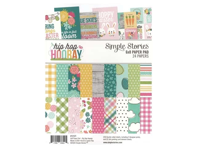 Simple Stories Collection Hip Hop Hooray Paper Pad 6 in. x 8 in.