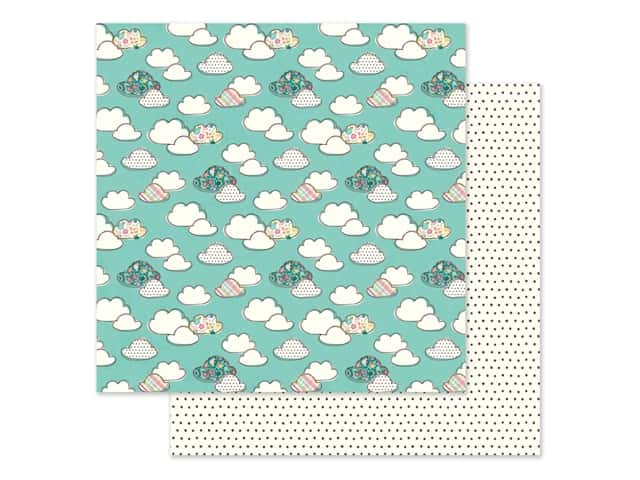 Simple Stories Collection Hip Hop Hooray Paper 12 in. x 12 in. Puddle Jumper