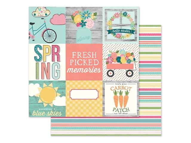 Simple Stories Collection Hip Hop Hooray Paper 12 in. x 12 in. Elements 4 in. x 4 in.