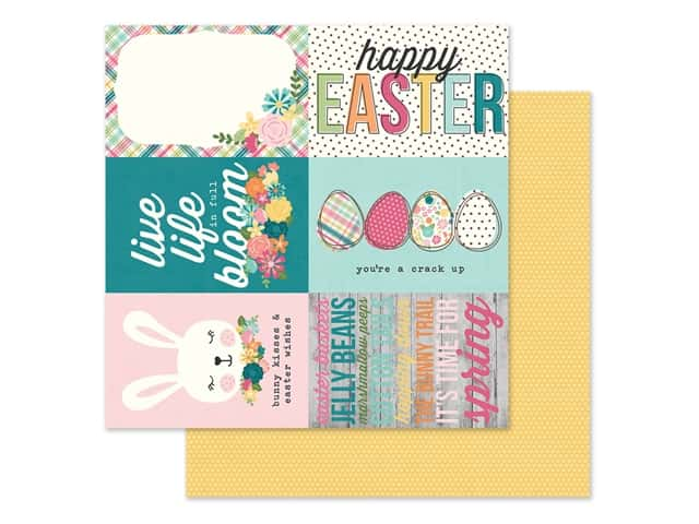 Simple Stories Collection Hip Hop Hooray Paper 12 in. x 12 in. Elements 4 in.  x 6 in.