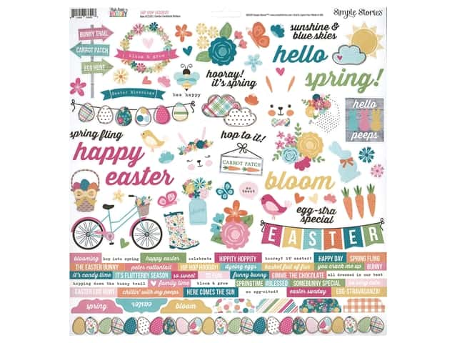 Simple Stories Collection Hip Hop Hooray Sticker Combo 12 in. x 12 in.