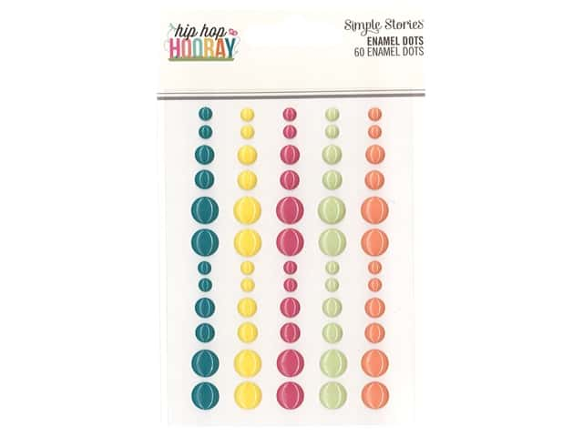 Simple Stories Collection Hip Hop Hooray Enamel Dots