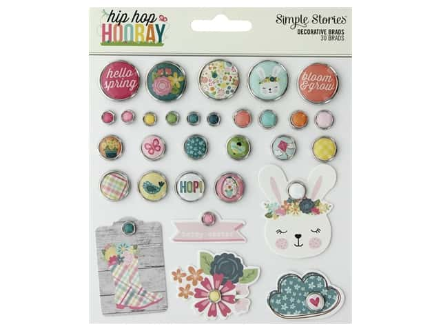 Simple Stories Collection Hip Hop Hooray Decorative Brads
