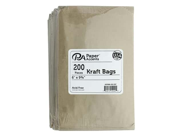 Paper Accents Bag Kraft 6 in. x 9.75 in. 200 pc