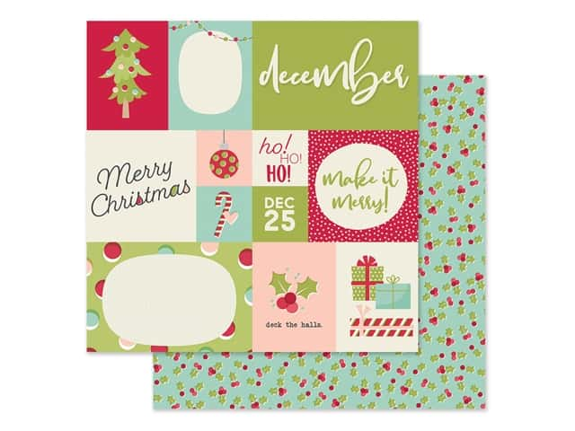 Simple Stories Collection Best Year Ever Paper 12 in. x 12 in. December