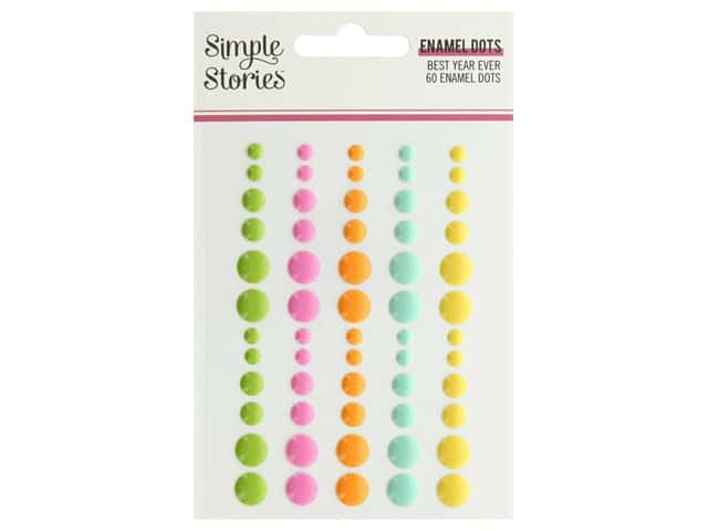 Simple Stories Collection Best Year Ever Enamel Dots