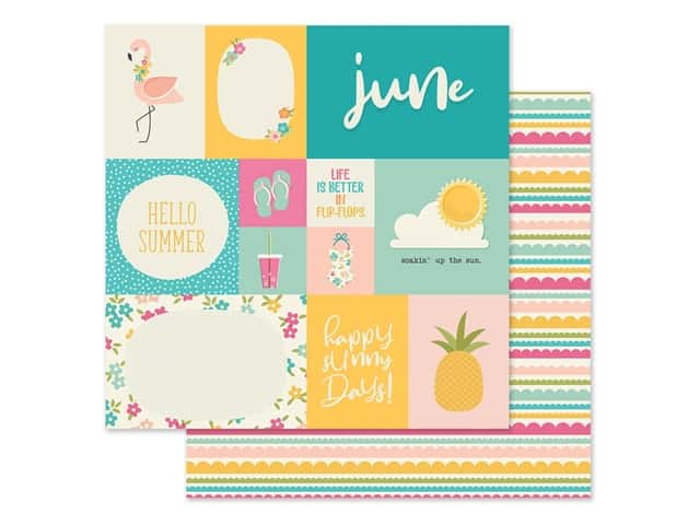 Simple Stories Collection Best Year Ever Paper 12 in. x 12 in. June