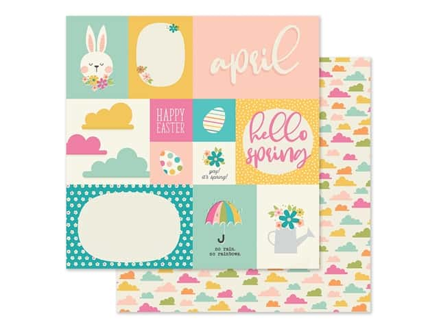 Simple Stories Collection Best Year Ever Paper 12 in. x 12 in. April