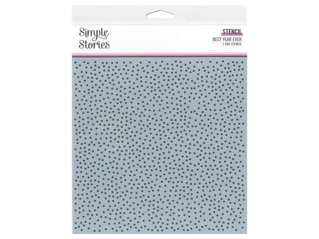 Simple Stories Collection Best Year Ever Stencil 6 in. x 6 in. Speckle Dot