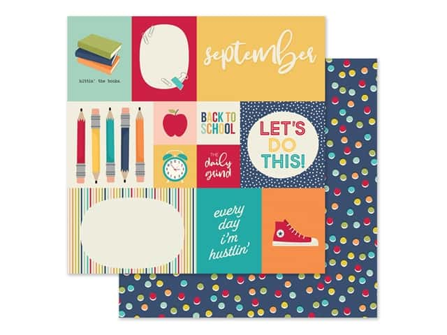 Simple Stories Collection Best Year Ever Paper 12 in. x 12 in. September