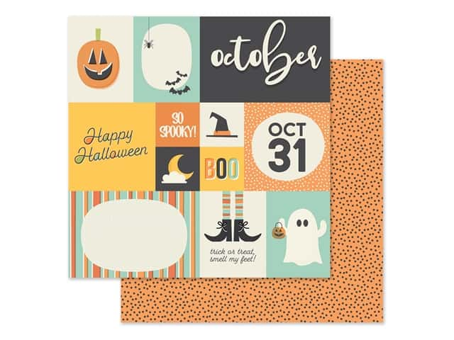 Simple Stories Collection Best Year Ever Paper 12 in. x 12 in. October