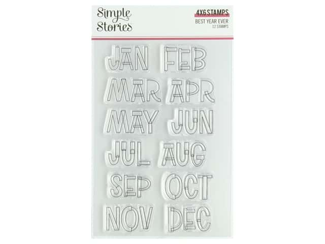 Simple Stories Collection Best Year Ever Stamps