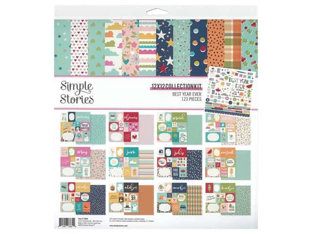 Simple Stories Collection Best Year Ever Kit 12 in. x 12 in.