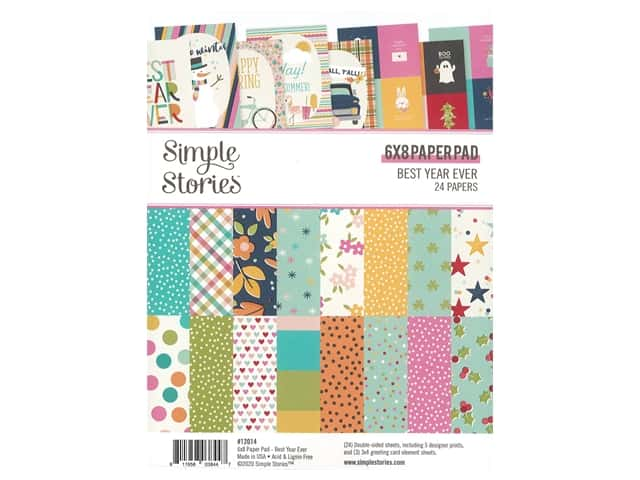 Simple Stories Collection Best Year Ever Paper Pad 6 in. x 8 in.