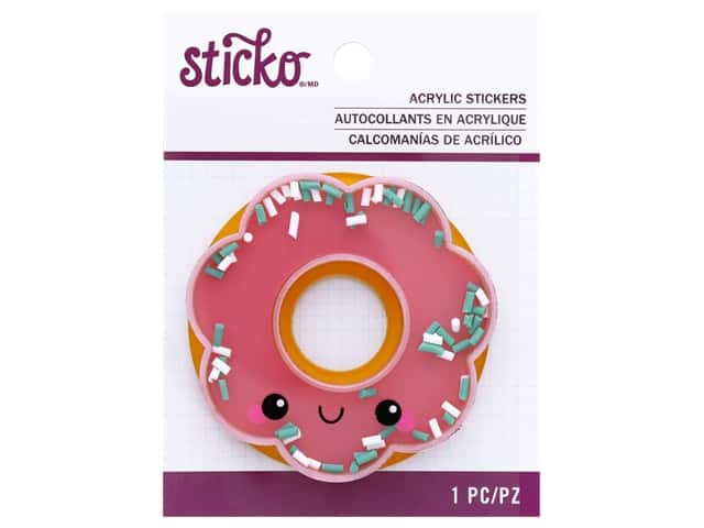 Sticko Acrylic Stickers - Happy Donut