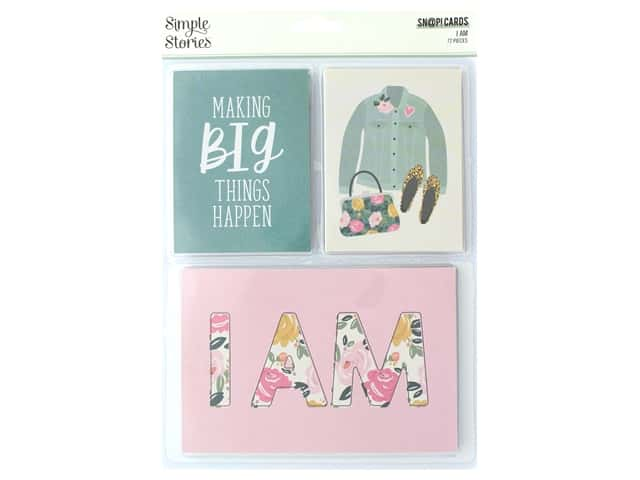 Simple Stories Collection I Am Snap Cards 3 in. x 4 in. & 4 in. x 6 in.